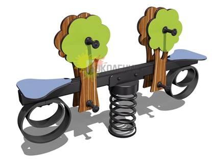 Качели-балансир на пружине Сказочный лес арт.Ф001
