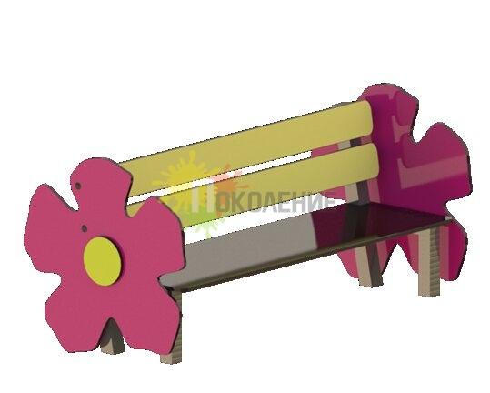 Лавочка детская Цветочек Ф076