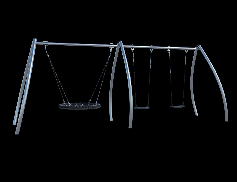 Качели (с подвесами на цепи из нержавеющей стали с термоусадкой)
