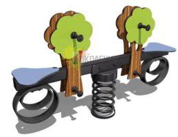 Качели-балансир на пружине Сказочный лес Ф001