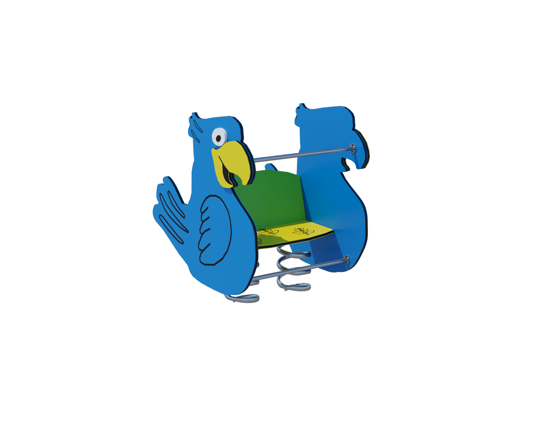 Качалка на пружине «Попугай» Ф009