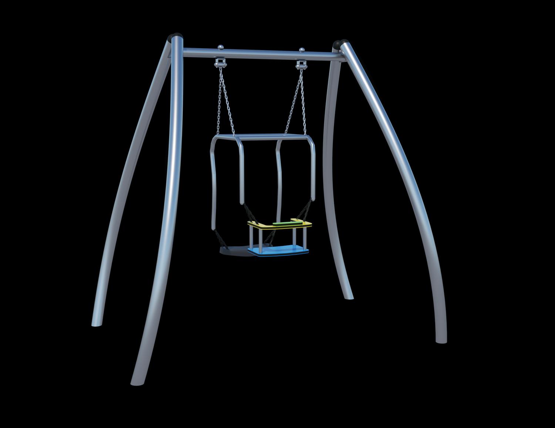 Качели «мама и малыш» (цепь из нержавеющей стали) Ф032