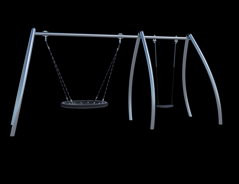 Качели (с подвесами на цепи из нержавеющей стали с термоусадкой) Ф033