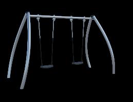 Качели (с подвесами на цепи из нержавеющей стали с термоусадкой) Ф034