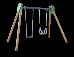Качели двухместные (с подвесами на цепи из нержавеющей стали с термоусадкой) ЛС018
