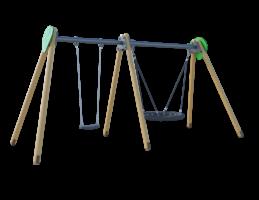 Качели (с подвесами на цепи из нержавеющей стали с термоусадкой) ЛС019